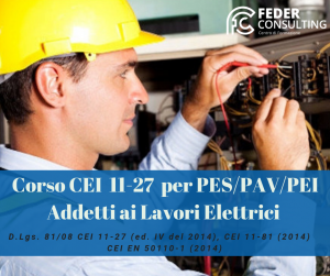Corso PES/PAV/PEI Addetti ai lavori elettrici - 16 ore Trapani